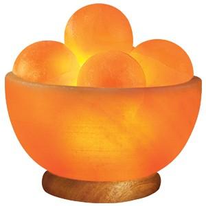 Himalayan Salt Lamp With Healing Balls : Massage Balls Salt Lamp