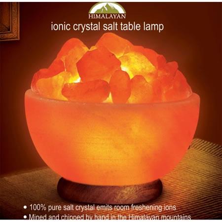 Salt Lamps Definition : Himalayan Ionic Salt Crystal Bowl Lamp
