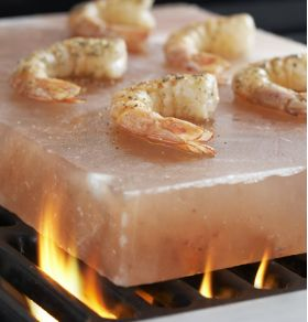 Tasty Shrimp on Himalayan Salt Plate