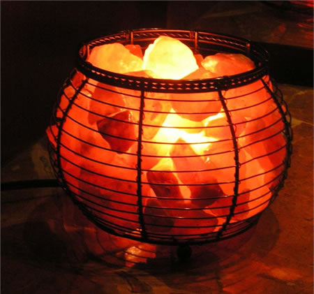 Himalayan Salt Crystal Lamps Round Basket Himalayan Salt Crystal Lamp