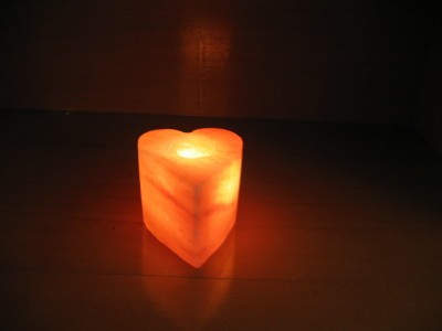Tea Light Rock Salt Candle Holder