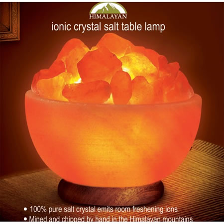 Ionic Crystal Salt Table Lamp Abundance Bowl
