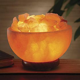 Salt Bowl Lamp on Desk